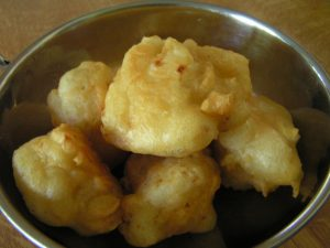 Cauliflower in batter