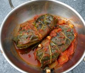 Beef stuffed cabbage rolls