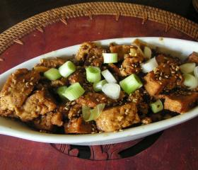 Braised tofu Korean-style