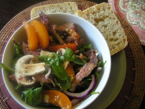 Duck and apricot salad
