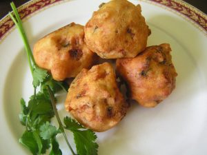 Aloo bonda, spicy potato balls
