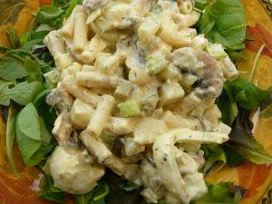 Macaroni and herring salad