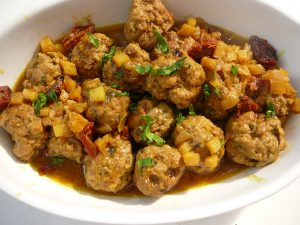 meatballs with spicy sauce