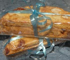 Cherry and hazelnut biscotti