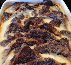 fruity chocolate bread pudding