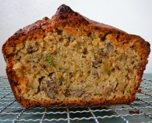 Courgette and walnut loaf