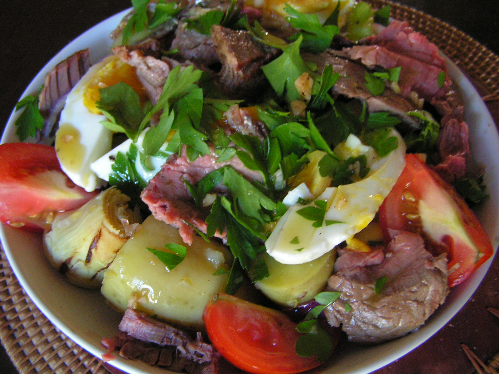 Beef and artichoke salad