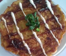 Okonomiyaki with pork
