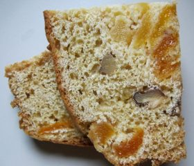 Apricot, orange and walnut loaf