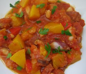 Chorizo and butternut chilli