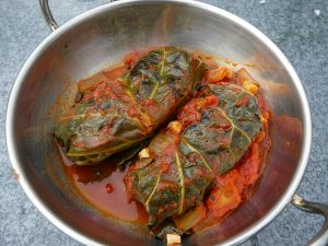 Beef stuffed cabbage rolls