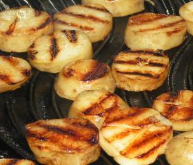 Char-grilled Jerusalem artichokes