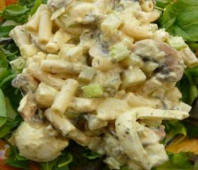 Macaroni and herring salad