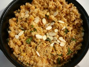 spicy chickpea and almond couscous