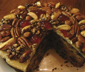Chunky Christmas cake