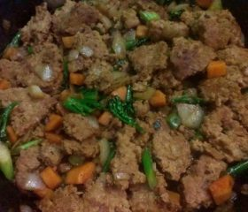 Braised minced pork oriental style