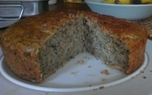 courgette and poppyseed cake