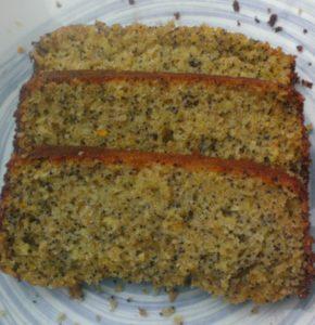 Orange and poppy seed pound cake