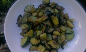 Courgettes with chilli, garlic and lemon