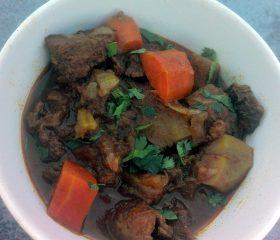 Caribbean spiced lamb stew